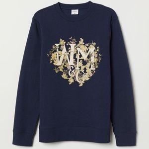 H&M x Willam Morris & Co. Long Blue Sweatshirt